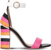 Miss KG Ebony colour-block woven heeled sandals
