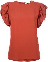 Chloé ruffled sleeve blouse - women - Silk/Acetate/Viscose - 36