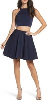 La Femme Women's Strappy Back Two-Piece Skater Dress