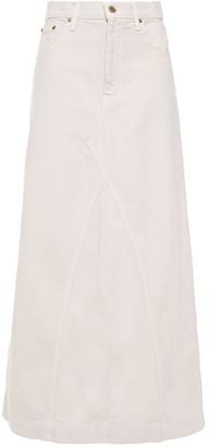 Nanushka Mae Denim Maxi Skirt