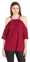 Plenty by Tracy Reese Women's Shoulder Tie Tee Xs-L
