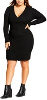City Chic Trendy Plus Size V-Neck Knit Dress