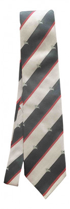 Burberry Grey Silk Ties