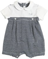 Il Gufo Striped Cotton Jersey Romper