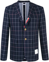 Thom Browne unconstructed checked jacket - men - Silk/Cotton/Wool - 2