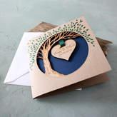 No Ordinary Gift Company Wooden Anniversary Hanging Heart Tree Keepsake Card