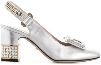 Gucci crystal G embellished pumps