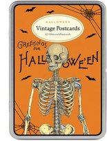 Cavallini Papers & Halloween 2 Glitter Vintage Postcards