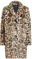 The Kooples Printed Faux Fur Coat