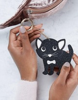 Asos Glitter Cat Bag Charm Key Ring
