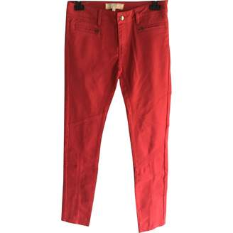 Vanessa Bruno Red Cotton - elasthane Jeans for Women