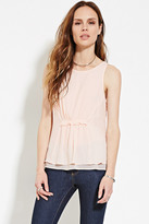 Forever 21 FOREVER 21+ Contemporary Shirred-Front Top