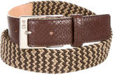 Etro Leather Trimmed Woven Belt