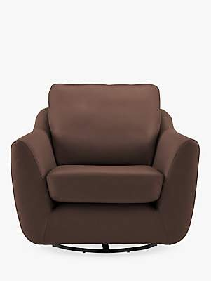 Sixty Seven G Plan Vintage The Leather Swivel Armchair