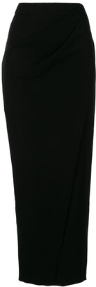 Giorgio Armani Draped Pencil Midi Skirt