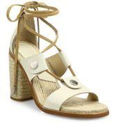 Rag & Bone Eden Leather Lace-Up Block-Heel Sandals