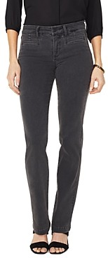 NYDJ Marilyn Tailored Welt-Pocket Straight Jeans in Folsom