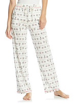 Cuddl Duds Sleep Purrfect Day Knit Pants - Ivory Bikes