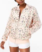 adidas Reversible Floral-Print Bomber Jacket