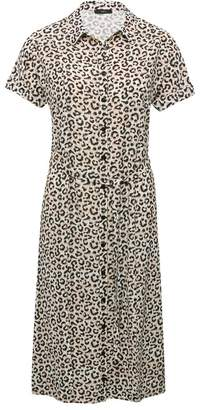 M&Co Leopard split front skirt dress