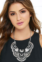 LuLu*s Desert Sky Silver and Black Statement Necklace
