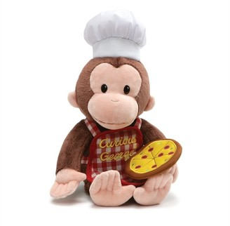Gund Spin Master Curious George with Pizza Pie