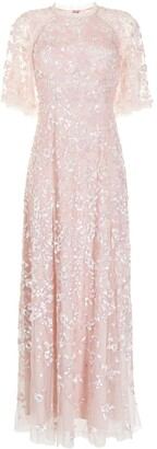 Needle & Thread Sequin Ribbon embellished gown