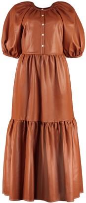 STAUD Demi Faux Leather Dress