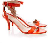 Loeffler Randall Reina Orange Kitten Heel Sandal