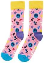 Happy Socks Peace and Love socks