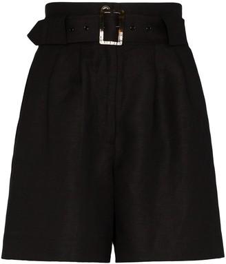 Solid & Striped Paperbag Belted Shorts