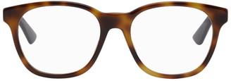 Gucci Tortoiseshell and Gunmetal Square Glasses