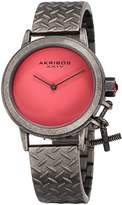 Akribos XXIV Women's Swiss Quartz Stainless Steel Casual Watch, Color:Grey (Model: AK966GNPK)