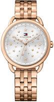 Tommy Hilfiger Women's Casual Sport Rose Gold-tone Stainless Steel Bracelet Watch 36mm 1781738