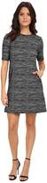 Donna Morgan Short Sleeve Marble Knit T-Dress