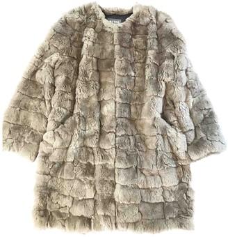 Meteo Beige Rabbit Coat for Women