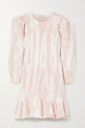 Ulla Johnson Eli Ruffled Tie-dyed Cotton-jersey Mini Dress - Pink