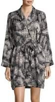 Kate Spade Feather-Print Wrap Robe