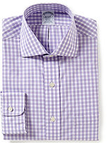 Brooks Brothers Non-Iron Regent FItted Classic-Fit Spread-Collar Gingham Dress Shirt