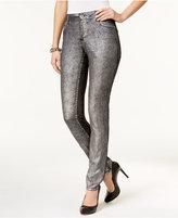 Silver Metallic Skinny Jeans - ShopStyle