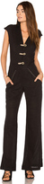Vix Paula Hermanny Solid Flaire Jumpsuit