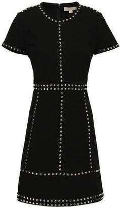 MICHAEL Michael Kors Studded Stretch-crepe Mini Dress