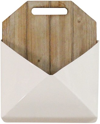 Stratton Home Wood And Metal White Wall Mailbox