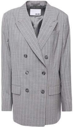 Each X Other Double-breasted Pinstriped Wool Blazer