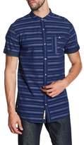 Triple Five Soul Stripe Stand Collar Regular Fit Shirt