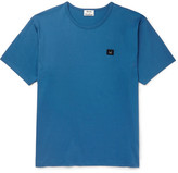 Acne Studios Niagara Appliquéd Cotton-jersey T-shirt - Blue