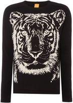 Hugo Boss Kiger Tiger Print Knitted Jumper