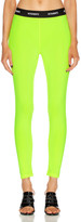 Vetements Logo Waistband Legging in Fluo Yellow   FWRD