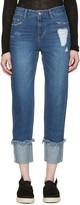 Sjyp Indigo Roll Over Jeans