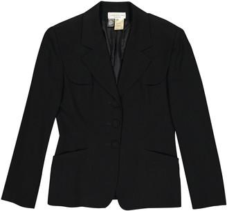 Georges Rech Black Wool Jacket for Women Vintage